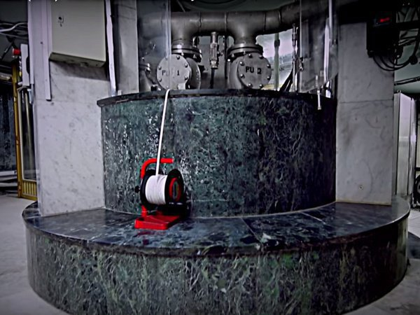 Unique shots: exactly this way water is received from the well-known spring of Zam-Zam